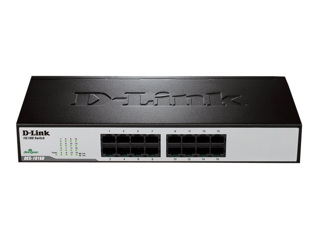 D-Link : UNMANAGED WORKGROUP ENET SWITCH 16X10/100BTX (pc)
