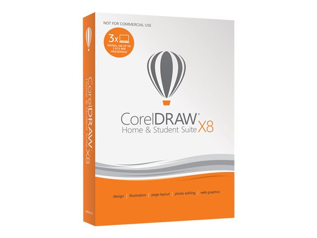 Corel : CORELDRAW SUITE X8 HOME & STUDENT MINI BOX FR/NL (win)