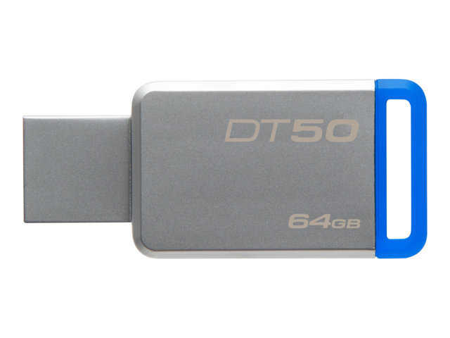 Kingston : 64GB USB 3.0 DATATRAVELER 50 METAL/BLUE