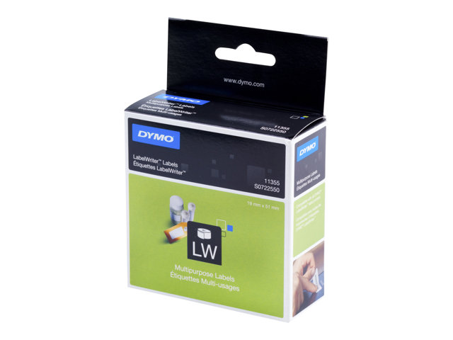Dymo : LABELS MULTI-PURPOSE 19 X 51 MM - ROLL 500 LABELS fr