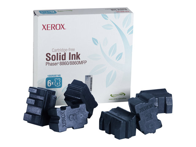 Xerox : GENUINE XEROX SOLID INK CYAN PHASER 8860/8860MFP (6 STICKS)
