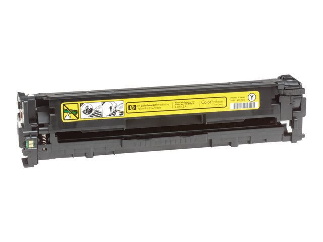 HP : YELLOW PRINT CATRTRIDGE W/ COLORSPERE TONER - CB542A