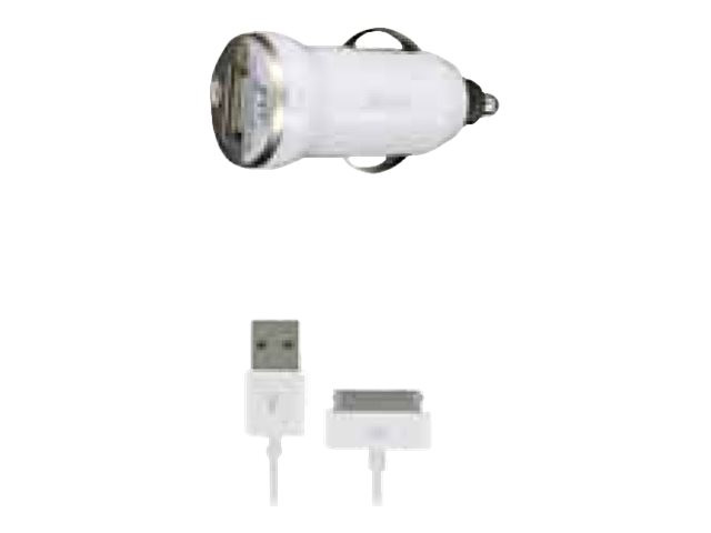 DLH : 5W USB CAR CHARGER pour GSM SPHON 1CABLE APPLE 30 WHT PINES