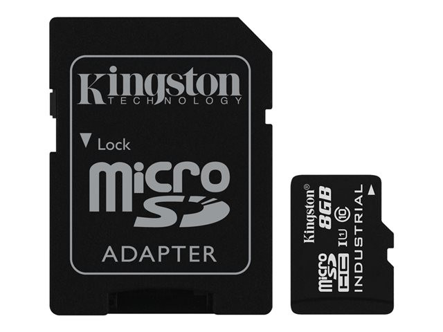 Kingston : 8GB MICROSDHC UHS-I CLASS 10 INDUSTRIAL TEMP CARD+ ADAPTER