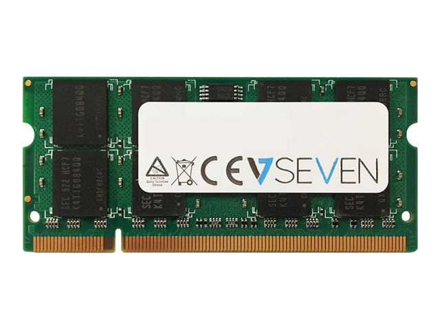 V7 : 2GB DDR2 800MHZ CL6 SO DIMM PC2-6400