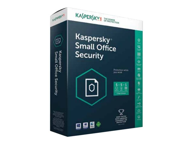 Kapersky : SMALL OFFICE SECURITY KASPERSKY 5.0 5U+1SERVER MINI SIERRA (win-32)