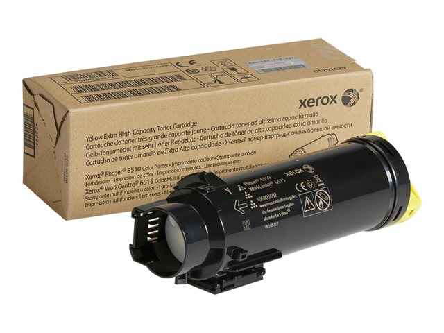 Xerox : YELLOW EXTRA HIGH CAP TONER pour WC6515/PHASER6510(4500 PAGES)