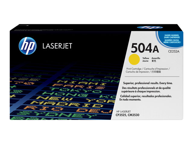 HP : HP COLOR LaserJet CE252A YELLOW PRINT cartridge W COLORSPHERE TO