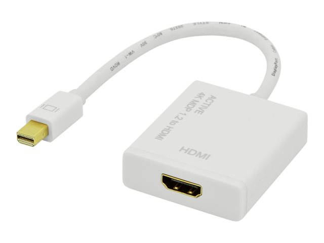 Assmann : DISPLAYPORT ADAPTER cable MINI DP - HDMI TYPE A M pour 0.2M