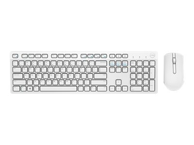 Dell : DELL WIRELESS KEYBOARD/MOUSE KM636 FRENCH (AZERTY) BLANC fr