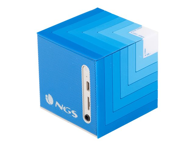 NGS : BLUETOOTH SPEAKER avec ANIMATED LED - TOP QUALITY AUDIO BLUE
