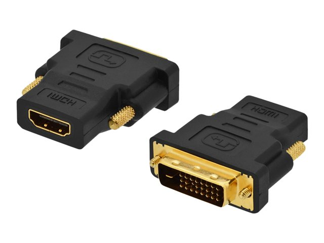 Assmann : DVI ADAPT DVI(18+1)-HDMI TYPE A M pour DVI-D SINGLE LINK FULL HD