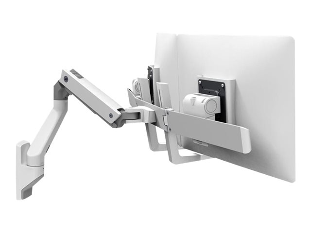 Ergotron : HX WALL DUAL MONITOR ARM WHITE .