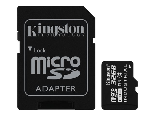 Kingston : 32GB MICROSDHC UHS-I CLASS 10 INDUSTRIAL TEMP CARD+ ADAPTER