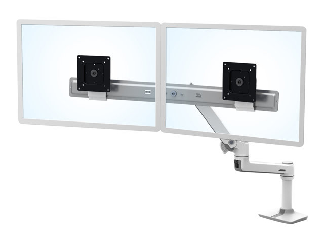 Ergotron : LX DESK DUAL DIRECT ARM BRIGHT WHITE TEXTURE