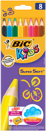 BIC KIDS Crayon de couleur triangulaire Supersoft, étui en