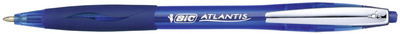BIC Stylo à bille rétractable Atlantis Soft, rouge