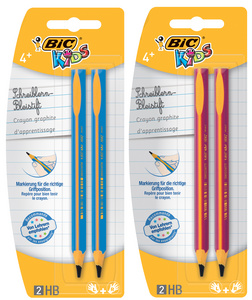 BIC KIDS Crayon d'apprentissage Evolution, blister de 2,