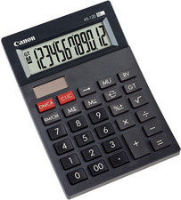 Canon calculatrice de bureau AS-120, alimentation solaire