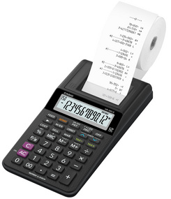 CASIO Calculatrice imprimante modèle HR-8 RCE-WE, blanc