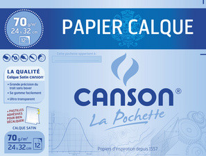 CANSON Calque satin, 240 x 320 mm, 70 g/m2