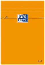 Oxford Bloc-notes, 110x170mm, quadrillé,80 feuilles, orange