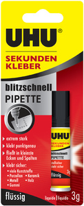 UHU colle instantanée blitzschnell PIPETTE, 10g