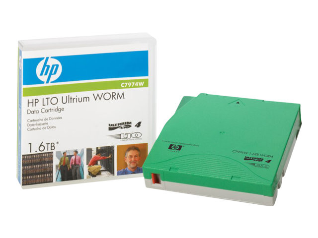 HP : DATA cartridge LTO4 ULTRIUM 1.6 TB WORM