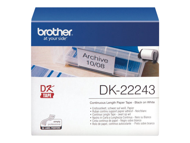 Brother : DK papier tape (WHITE)