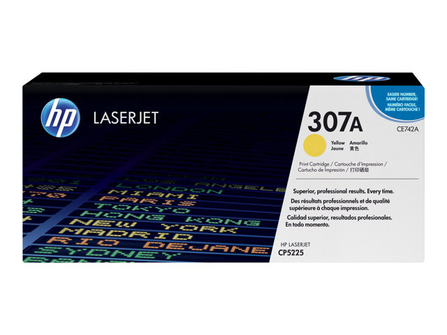 HP : YELLOW PRINT cartridge CE742A HP COLOR LaserJet
