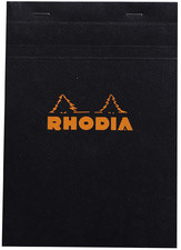 RHODIA Bloc agrafé No. 16, format A5, quadrillé 5x5, orange