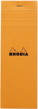 RHODIA Bloc agrafé No. 8, 74 x 210 mm, quadrillé 5x5, orange