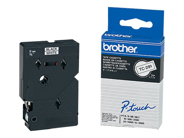 Brother : PTOUCH 9MM WHITE/BLACK pour PTOUCH 500/8E/2 3 500