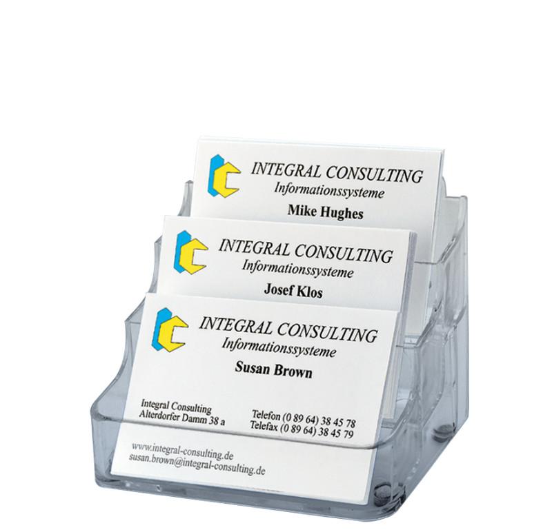 Sigel Porte Cartes De Visite En Plastique Rigide A 1