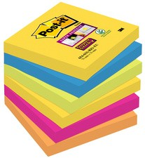 Post-it bloc-notes adhésifs Super Sticky Notes, 76 x 76 mm