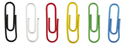 DURABLE trombones, gaine en plastique, en couleur, 26 mm