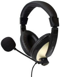 LogiLink Casque audio High Quality, avec coussinet, noir