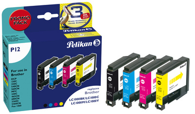 Pelikan Multi-pack encre 4107596 remplace brother LC-980BK