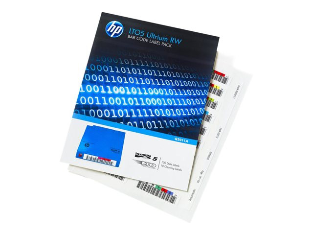 HP : LTO5 ULTRIUM BAR CODE LABELS RW AUTOMATION (110 PK)