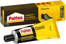 Pattex Colle de contact classic, avec solvant, tube de 125g