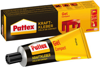 Pattex Colle de contact Compact Gel, avec solvant, tube de
