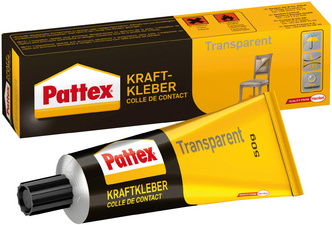 Pattex Colle de contact, transparente, avec solvant, tube de