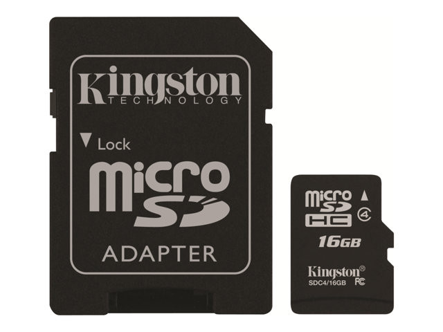 Kingston : 16GB MICROSDHC CLASS 4 FLASH card