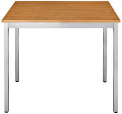 SODEMATUB Table universelle 126RMA, 1200x600, merisier/alu