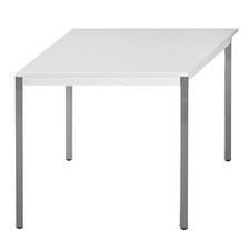 SODEMATUB table de réunion 126DRGG, demi-ronde, gris / gris