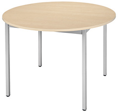 SODEMATUB Table universelle 80ROHA, rond, 800 mm, hêtre/alu