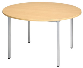 SODEMATUB table universelle 110ROHA, 1.100 mm, hêtre/alu