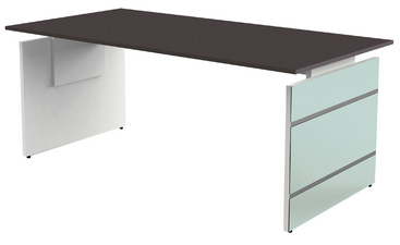kerkmann bureau avec pi tement panneau aveto l mm busiboutique. Black Bedroom Furniture Sets. Home Design Ideas