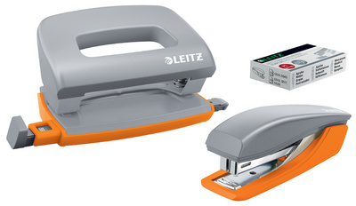 LEITZ Kit mini agrafeuse & mini perforateur Urban Chic, gris