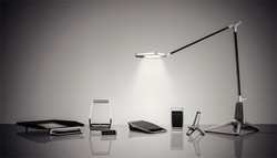 LEITZ Lampe de bureau LED Style SMART DESK LAMP,bleu titane,